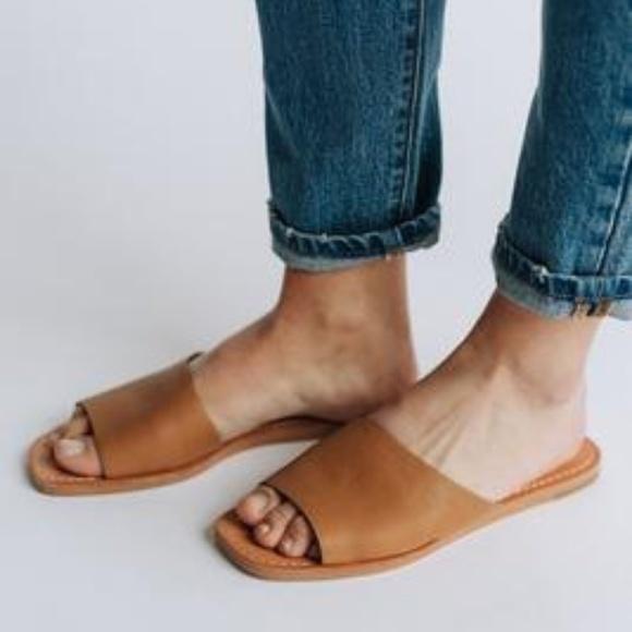 8423e5082 Dolce Vita Shoes | Cato Asymmetrical Slide Sandal Caramel | Poshmark